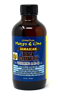 Jamaican Mango & Lime Black Castor Oil Vitamins A-D-E 118ml