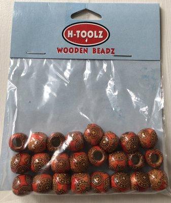 H-toolz Wooden Beadz 24st.