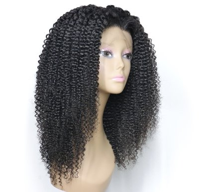 Brazilian Remy Kinky Curly Lace Front Wig