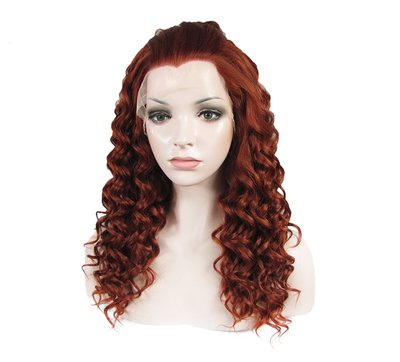 Curly Synthetic Lace front Wig 24 inch