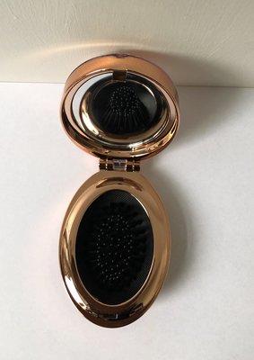 Haarborstel met spiegel incl. haarelastieken