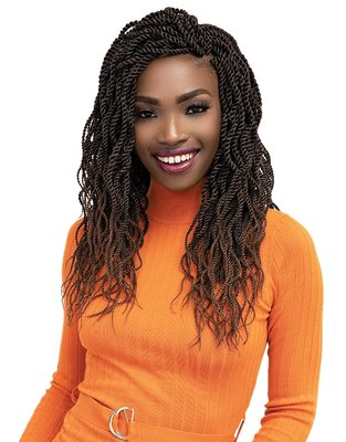 Janet Collection Nala Tress 3x Wavy Senegalese Twist Pre-Feathered 20 inch