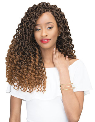 Janet Collection 2X Mambo Curly Bohemian Locs 18 inch