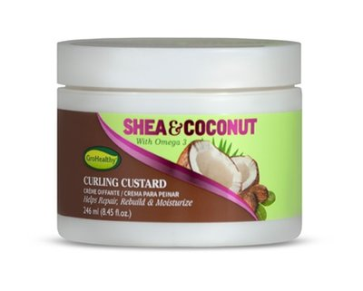 GroHealthy Shea & Coconut Curling Custard 246ml