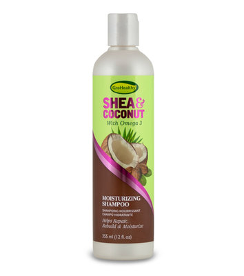 GroHealthy Shea & Coconut Moisturizing Shampoo 355ml