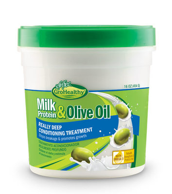 GroHealthy Milk Protein & Olive Oil Really Deep Conditioning Treatment 454g