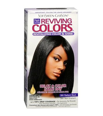 SoftSheen Carson Dark and Lovely Relax & Color Same Day Semi-Permanent Haircolor 391 Radiant Black
