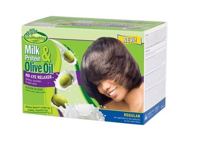 GroHealthy Milk Protein & Olive Oil No-Lye Relaxer Regular