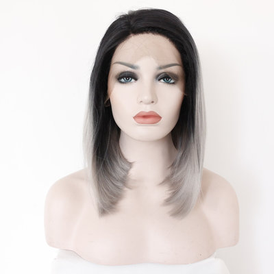 Synthetic Straight Bob Lace Front Wig