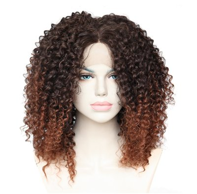 Kinky Curly Synthetic Lace Front Wig 16 inch