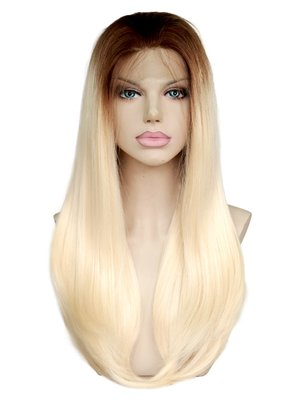 Silky Straight Synthetic Lace Front Wig 18 inch