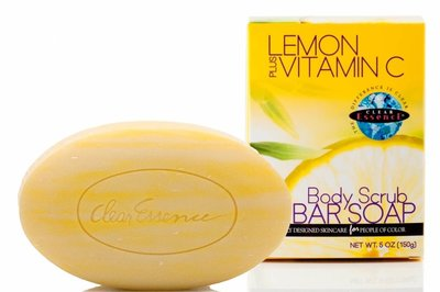 Clear Essence Lemon Plus Vitamin C Body Soap Scrub 150g