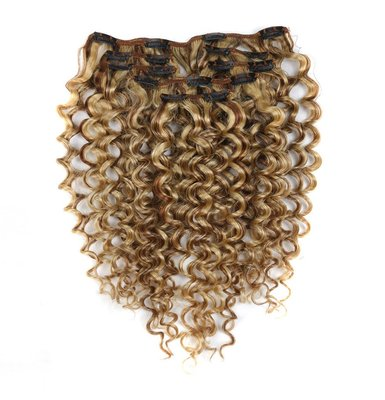 Brazilian Clip In Jerry Curl 7pcs