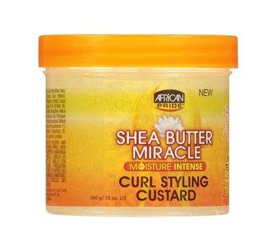 African Pride Shea Butter Miracle Moisture Intense Curl Styling Custard 340g