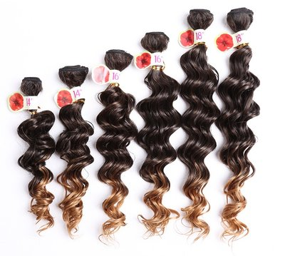 Smart Synthetic Deep Wave Hair Weave 6pcs