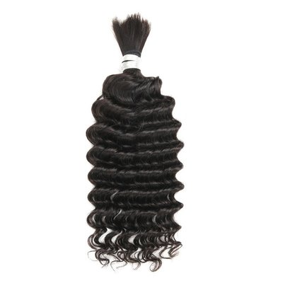 Malaysian Deep Wave Bulk Hair 20 inch