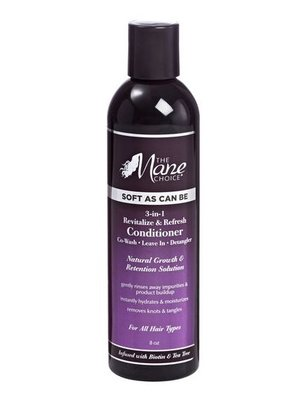 The Mane Choice Soft As Can Be Revitalize & Refresh 3-in-1 Co-Wash, Leave In, Detangler 226.8ml