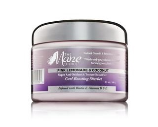 The Mane Choice Pink Lemonade & Coconut Super Anti-Oxidant & Texture Beautifier Curl Boosting Sherbet 340g
