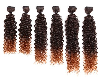 Smart Synthetic Jerry Curl Hair Weave 6pcs