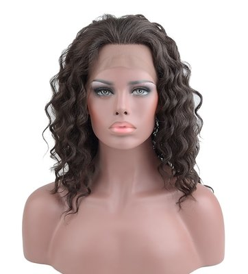Deep Wave Synthetic Lace Front Wig 16 inch