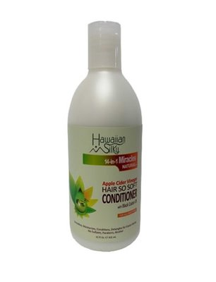 Hawaiian Silky 14-in-1 Miracles Natural Apple Cider Vinegar Hair So Soft Conditioner 355ml