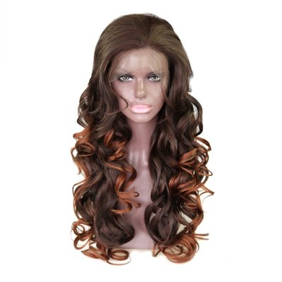 Synthetic Bouncy Curly Lace Front Wig 20 inch
