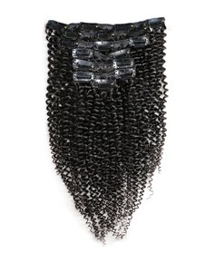 Mongolian Kinky Curly Clip-Ins