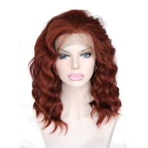 Synthetic Bob Wavy Lace Front Wig